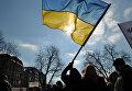 Флаг Украины во Львове
