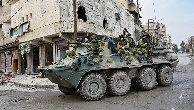Военные инженеры сводного отряда Международного противоминного центра Вооруженных сил РФ продолжают работу по разминированию восточных районов сирийского города Алеппо. Архивное фото