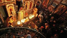 Богослужение в храме. Архивное фото