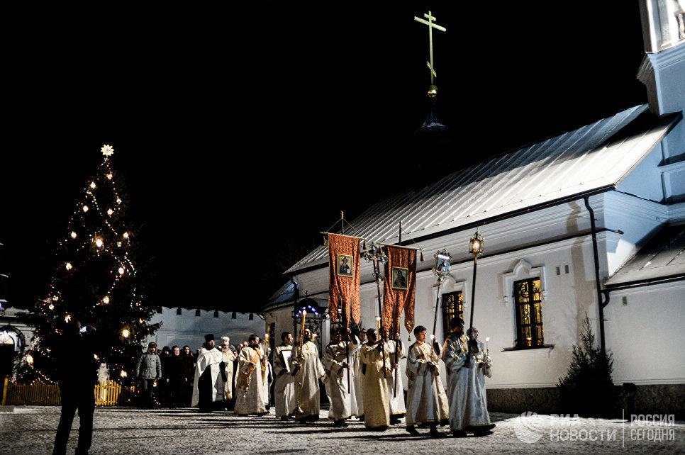 Праздничная Рождественская служба в храме св. пророка Божия Илии в Выборге