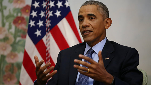 Президент США Барак Обама во время интервью. 6 января 2017 года