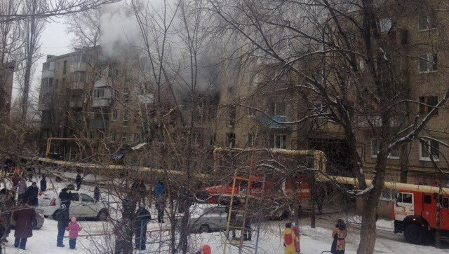 Взрыв газа вСаратове. Пострадали 7 человек