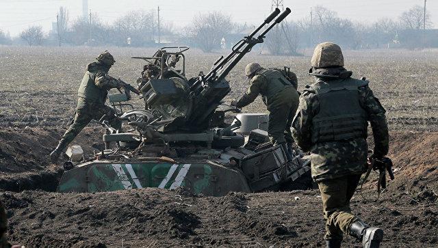Украинские военные в Донецкой области. Март 2015