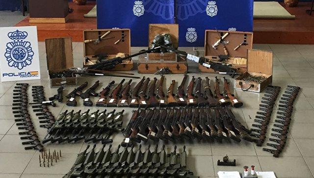 ВИспании найдено нелегальное оружие насумму около 10 млн. евро