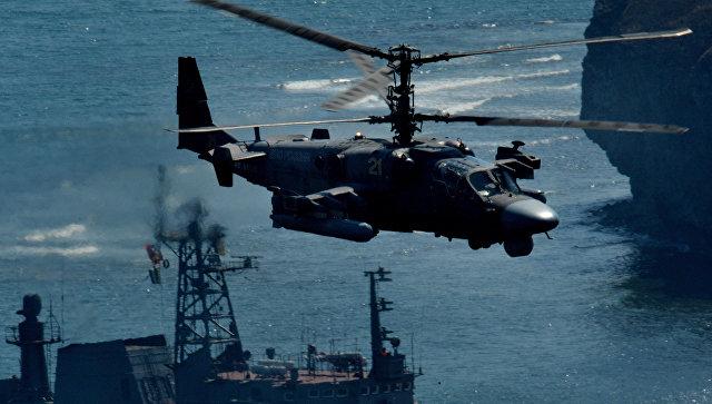 Вертолет огневой поддержки Ка-52 Аллигатор. Архивное фото