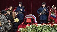 Церемония прощания с корреспондентом Первого канала Дмитрием Рунковым в Архангельске. 17 января 2017