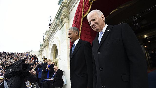 Президент США Барак Обама и вице-президент Джо Байден прибыли на инаугурацию Дональда Трампа. 20 января 2017. Архивное фото