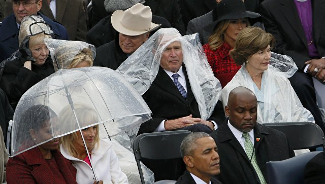 Джордж Буш на инаугурации Трампа