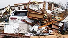 Последствия торнадо в штате Миссисипи. США