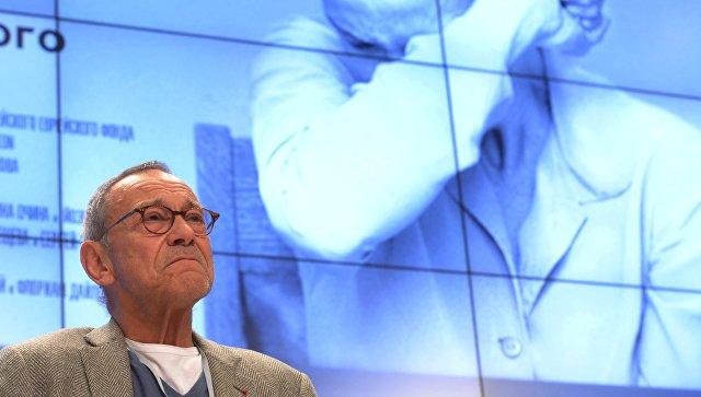 Режиссер фильма Рай Андрей Кончаловский на пресс-конференции. Архивное фото