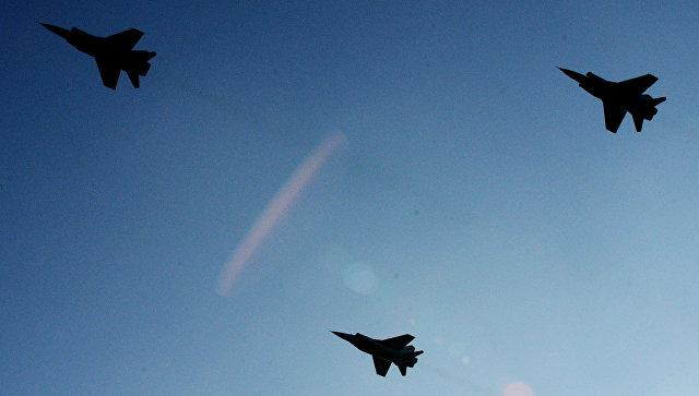 Группа истребителей МиГ-31 провела наКамчатке «воздушный бой» насверхзвуковых скоростях