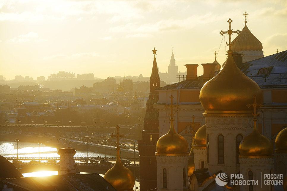 Вид Москвы с колокольни Ивана Великого