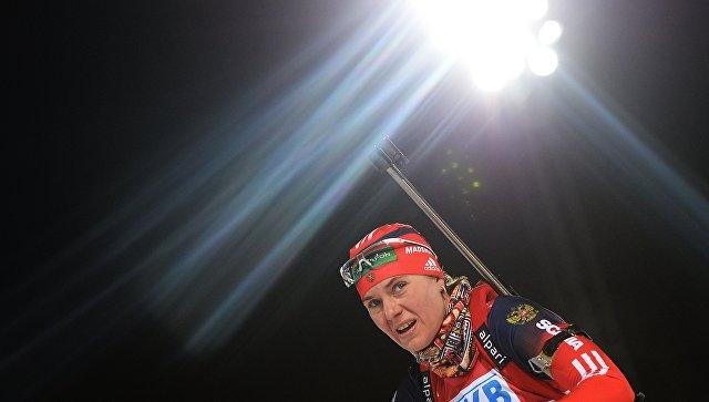 Россиянка Ирина Старых выиграла гонку преследования наЧЕ побиатлону