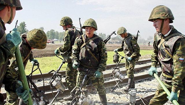 МОнарастило группировку железнодорожных войск настроительстве дороги вобход Украинского государства
