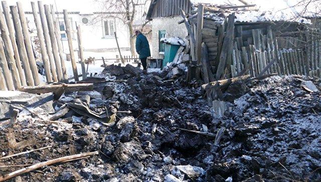 Последствия обстрелов украинскими силовиками города Макеевка в Донецкой области.