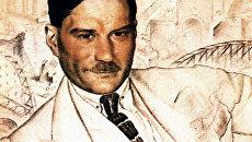 Борис Кустодиев. Портрет Евгения Замятина. 1923 год
