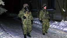 Сотрудники правоохранительных органов и военные в Авдеевке, Украина