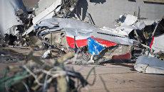 Обломки, упавшего у берегов Сочи самолета Минобороны РФ Ту-154. Архивное фото