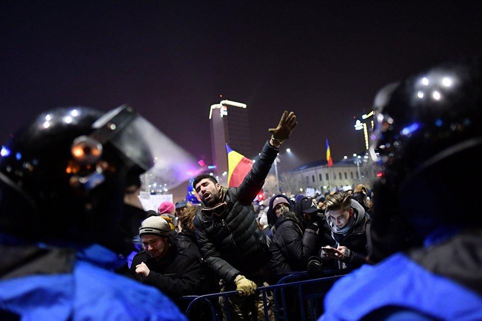 Акции протеста в Румынии, 1 февряля 2017