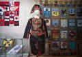 Коллективная работа День победы, костюм Барабанщица, текстильное панно Гербы городов Российской империи - работы участников студии лоскутного шитья Красный сарафан на открывшейся выставке Аты-баты