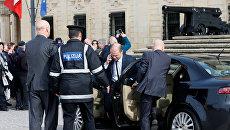 Премьер-министр Мальты Джозеф Мускат прибывает в свой офис перед встречей с лидерами ЕС. 2 февраля 2017 года