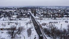Панорама Авдеевки. 1 февраля 2017. Архивное фото