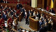 Депутаты на заседании Верховной рады. Архивное фото