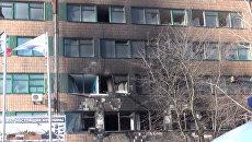 Командир батальона ополченцев ДНР Гиви погиб в Донецке. Съемка с места взрыва