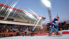 Соревнования по биатлону в Тюмени