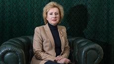 Директор Третьего департамента Азии МИД РФ Людмила Воробьева во время интервью