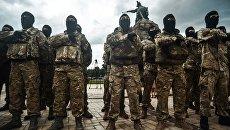 Новобранцы батальона Азов. Архивное фото