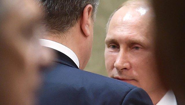 Лавров: Порошенко находится впостоянном контакте сПутиным