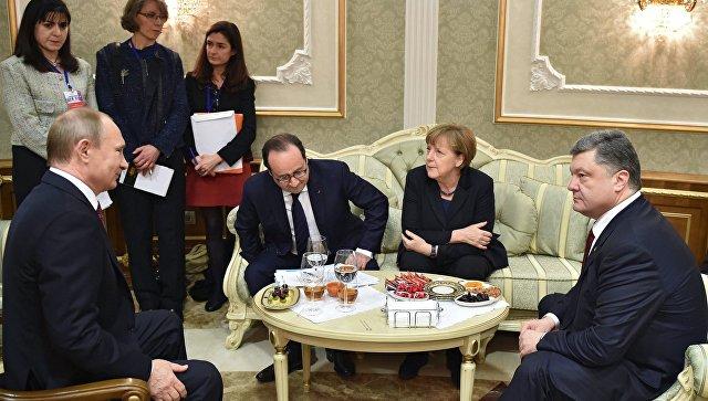 Переговоры лидеров России, Германии, Франции и Украины. Архивное фото