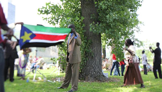 Флаг Южного Судана. Архивное фото