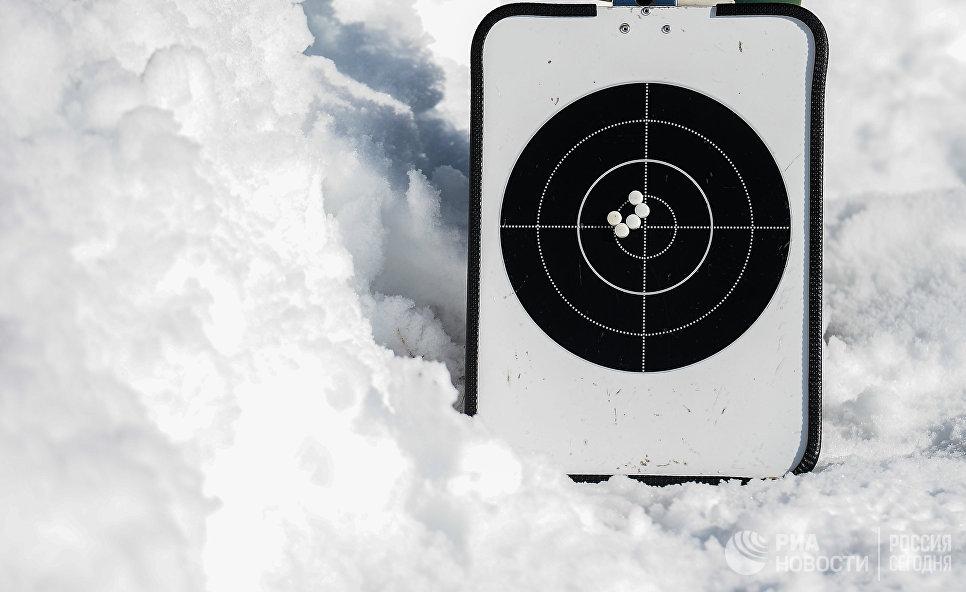 Тренерский планшет с мишенью на снегу