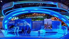 Павильон Россети перед открытием Петербургского международного экономического форума 2015. Архивное фото