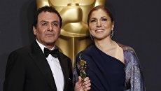 Асгар Фархади и Ануше Ансари на церемонии Оскар