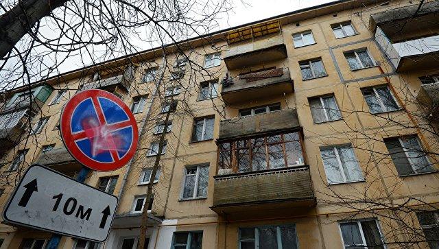Пятиэтажный жилой дом в районе Зюзино в Москве. Архивное фото