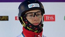 Максим Буров (Россия), завоевавший бронзовую медаль на соревнованиях по лыжной акробатике