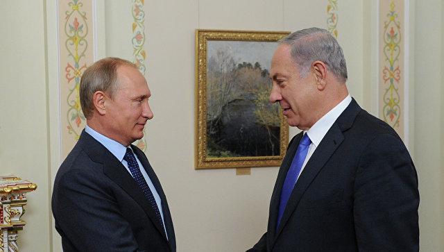 Путин обсудит сНетаньяху ситуацию наБлижнем Востоке