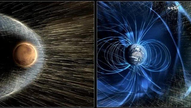 НАСА предлагает отправить магнитный щит наМарс