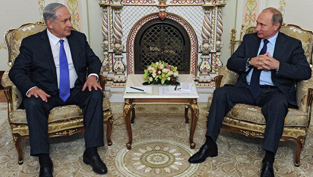 Встреча президента РФ В.Путина с премьер-министром Израиля Б.Нетаньяху. Архивное фото