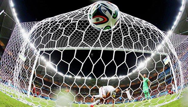 Гол на матче ЧМ по футболу в Бразилии. Архивное фото