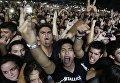 Поклонники группы Metallica на концерте в Асунсьоне, Парагвай