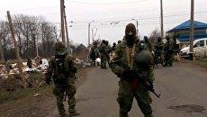 Захват редута участников блокады Донбасса попал на видео