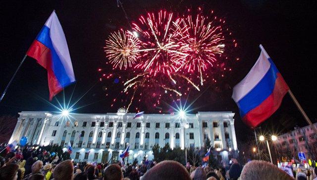 Празднование годовщины Крымской весны в Крыму. Архив