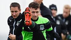 Игрок Краснодара Павел Мамаев на тренировке перед матчем 1/8 финала Лиги Европы против ФК Сельта. 15 марта 2017