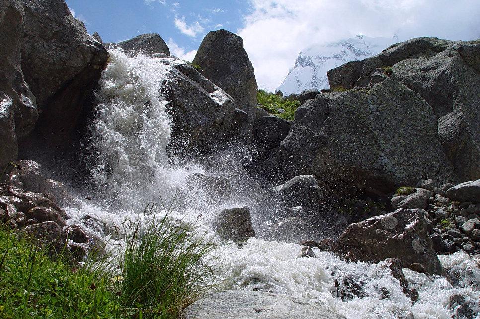 Верхнее течение реки Мижирги, правого притока Черека Безенгийского