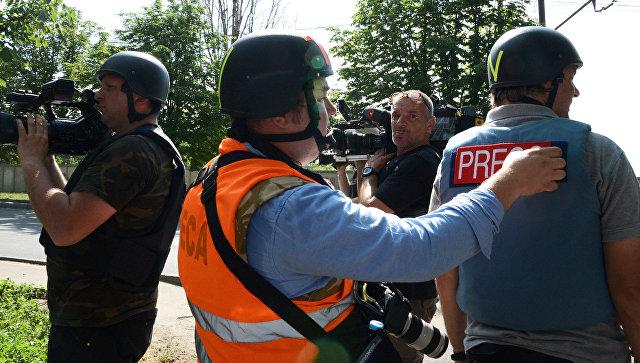 Журналисты в Донецке. Архивное фото