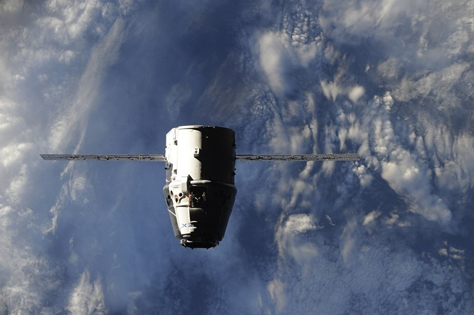 Космический корабль Dragon доставил наЗемлю груз сМКС